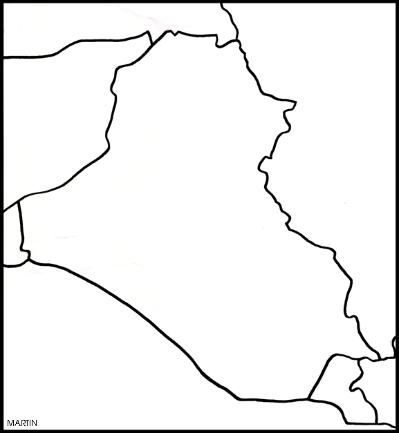 Map of Iraq